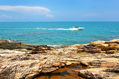 Sea with rock at day time Stock Image