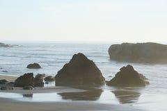 Sea rock at oregon Royalty Free Stock Image