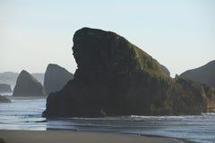 Sea rock at oregon Royalty Free Stock Photo