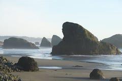 Sea rock at oregon Stock Photo