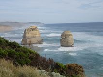 Sea & Rock. Point view that you can see part of 12 rocks in Great ocean road Royalty Free Stock Image