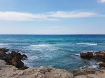 The sea and the rock in puglia. One of the most suggestive beach in puglia, italy stock photos