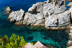 Sea and rocks Stock Photography