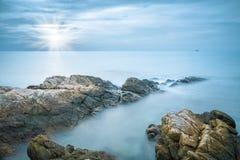 Sea rocks closeup Royalty Free Stock Images