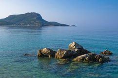 Sea rocks at early morning, Sithonia, Chalkidiki Stock Photo