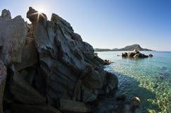 Sea rocks at early morning, Sithonia, Chalkidiki Stock Images
