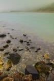 Sea rocks. A foggy morning on the shore of Black Sea, near Constanta, Romania Royalty Free Stock Photos
