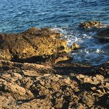 Sea rocks. Rocks by the sea - Island of Hvar Stock Photos