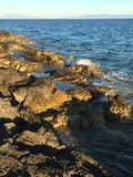 Sea rocks. Rocks by the sea - Island of Hvar Royalty Free Stock Image