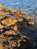 Sea rocks. Rocks by the sea - Island of Hvar Royalty Free Stock Images