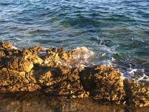 Sea rocks. Rocks by the sea - Island of Hvar Stock Photography