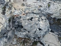 Sea rocks. Rocks by the sea - Island of Hvar Royalty Free Stock Photography