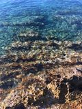 Sea rocks. Rocks by the sea - Island of Hvar Stock Photo