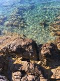Sea rocks. Rocks by the sea - Island of Hvar Stock Images