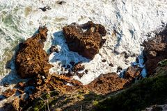 Sea and Rocks - Knysna - South Africa.  Stock Images
