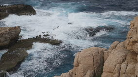 Sea and Rocks Landscape stock video footage