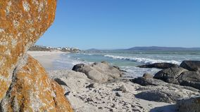 Sea and Rocks at Langebaan beach South Africa Royalty Free Stock Image