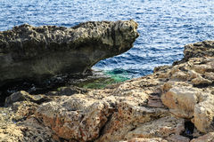 Sea rocks of malta Royalty Free Stock Images