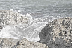 Sea rocks. Sea rock waterscape, with selective focus Royalty Free Stock Image