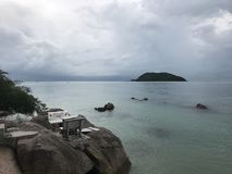 Sea rocks sky royalty free stock photos
