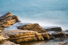 Sea rocks in sunrise Stock Photography
