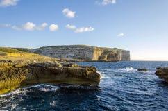 Sea and rocks view  Dwejra, island Gozo, Malta Stock Images