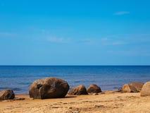 Sea rocky beach Stock Photos
