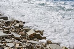Sea and rocky beach Royalty Free Stock Image