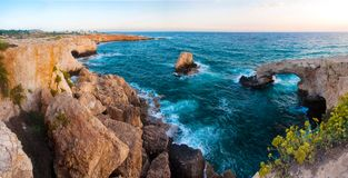 Sea rocky Caves in Ayia Napa, Cyprus Royalty Free Stock Photos