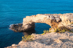 Sea rocky Caves in Ayia Napa, Cyprus Stock Photo