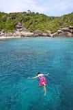 Sea and rocky coast at similan island Royalty Free Stock Image