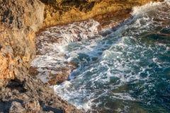 Sea at the rocky coast of the Spanish island Mallorca. Sea at the rocky coast of the Spanish island Mallorca, Europe Royalty Free Stock Photo