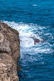 Sea at the rocky coast of the Spanish island Mallorca. Sea at the rocky coast of the Spanish island Mallorca, Europe Stock Photo