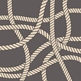 Sea rope pattern. Vintage style seamless nautical vector pattern with ropes Stock Photo