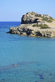 Sea and ruins in Crete, Greece. Everywhere in Crete (Greece) you can find ancient ruins and beautiful sea for an unforgettable swim. This shot has been taken Stock Image