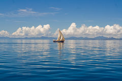 Sea and sailboat Royalty Free Stock Photos