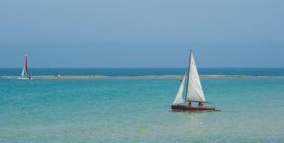 Sea sailboat rest Stock Image