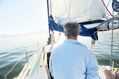 Sea sailing man Stock Photo