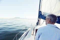 Sea sailing man royalty free stock photo