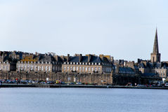 Sea and Saint-Malo in France Stock Image