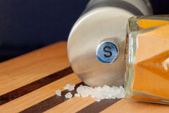 Sea sal grinder and spice ,selective focus,voluntary blur Royalty Free Stock Photos