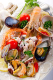 Sea salad Stock Image