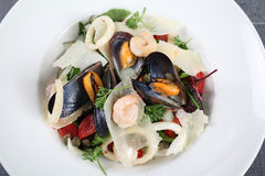 Sea salad with mussels and squids Stock Image