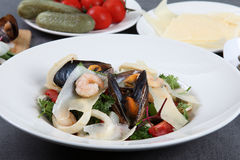 Sea salad with mussels and squids Stock Photography