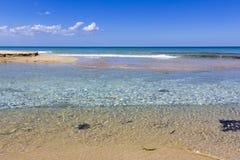 Sea salento, lecce. Sea of Salento, clear waters Stock Image
