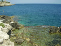 Sea of Salento. A view of the coast and the sea of Salento (Italy Royalty Free Stock Photo
