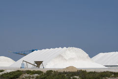 Sea Salt. From the salinas in Santa Pola, Spain royalty free stock photography