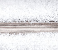 Sea salt. On vintage wooden surface Royalty Free Stock Image