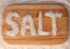 Sea salt on Royalty Free Stock Photography