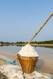 Sea salt in a basket Stock Photo